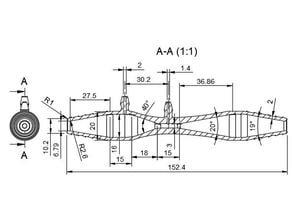 Venturi gas flowrate measurement pipe
