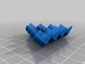 Ilusão de ótica com cubos