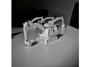 Easy to print Generic Excavator (esc: 1:100 or HO Scale)