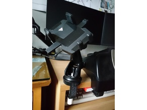 G-Clamp for replacing smartphone holder suction cup