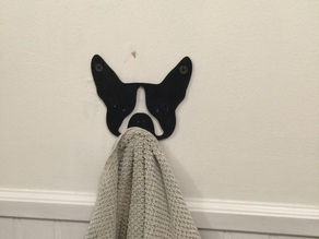 Boston Terrier Towel Hook
