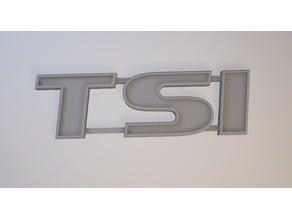TSI sign (VW,Skoda,SEAT)