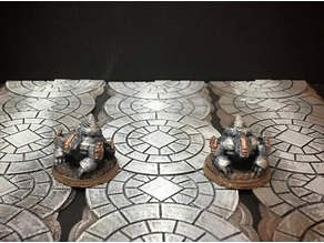 Netherforge Mine Badgers (28mm/Heroic scale)