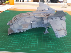 Blast-Tercel Gunship (28mm) - rear parts