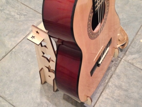 Laser Cut Guitar Stand for 3/4 size acoustic guitar