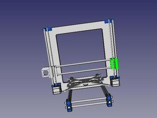 Prusa I3 freecad Model (partially complete