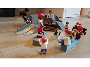 Skate elements compatible Playmobil