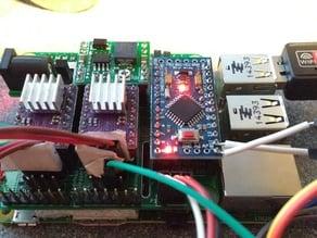 vPiP hanging v-plotter control board Pi2/Pi3 add-on