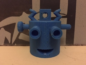 Robot Head Keychain
