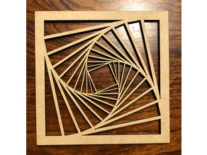 Laser cut tilted square pattern