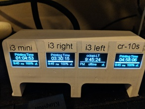 Remix of 3D Printer Monitor for OctoPrint Wemos D1 ESP8266
