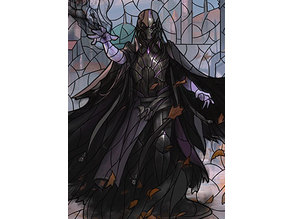 Davriel, Rogue Shadowmage - stained glass - litho