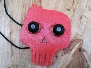 skull phones holder by studio ketem