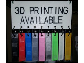 3D Printing Available Sign With Swatches