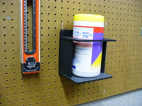 Lysol Wipes Pegboard Canister Holder!
