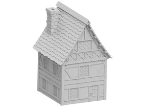 Medieval House made for tabletop scenery 1/28mm scale