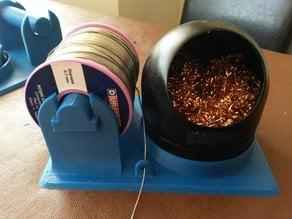Solder spool and sponge holder