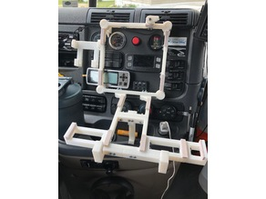 2018 Freightliner Mac and iPhone holder
