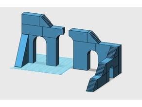 28 mm warhammer scale - big bridge / stairs - Khazad dûm dwarf bridge