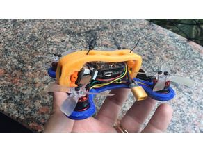 papacapim 105 - frame for micro brushless racer drone