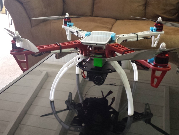 DJI Flamewheel F450 Addons by Fat_Lurch - Thingiverse