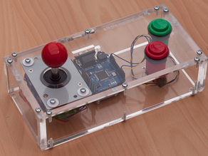 Laser cut acrylic case for Gameduino