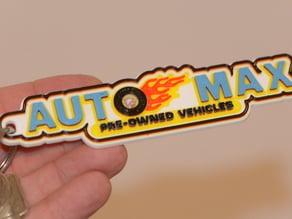 "Full color ""Auto Max"" Keychain"