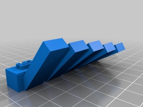 Overhang test print (50, 45, 40, 35, 30)