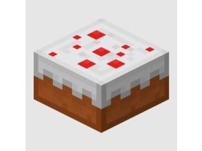 1/16 minecraft cake