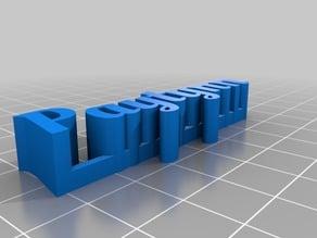 Paytynn- My Customized 3D name plate