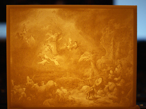 """Christmas decor - """"Angels Announcing the Birth of Christ to the Shepherds"""" by Govert Flinck"""
