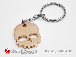 "Key Fob ""Brass Skull"" cnc/waterjet"