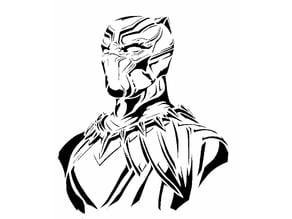 Black Panther stencil