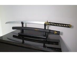 Katana Sword Prop with Sword Rack