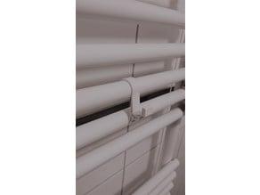 Bath heater hook