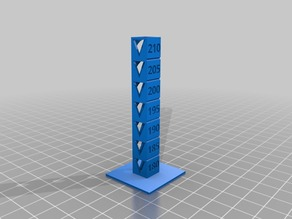 My Customized Temp Calibration Tower for PLA