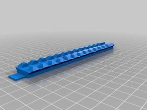 Nerf Stryfe Hulker top rail, split for small printers