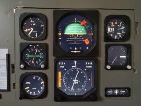 Set of bezels (frames) for Flight Simulator