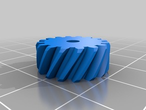 Helical Gear Bed Level Knob with Captive Nut