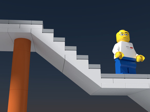 Lego compatible modular stairs