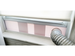 "Sliding Window Dryer or AC Vent Seal Kit with 4"" Air Duct Mount"