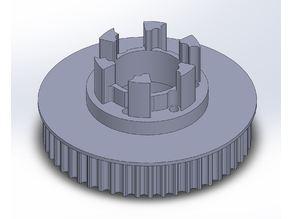 Longboard ABEC 11 Flywheels - Flywheel Clones - MBS All Terrain Wheels - CNC 50T Single Piece Pulley for 9mm, 12mm, 15mm Belts