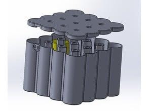 12V Motorcycle starter battery, 16S Lithium 26650 cell, hard case