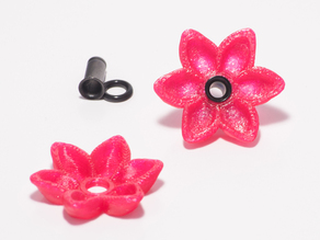 Alisa's Flower Charms For 4g Single Flare Metal Plugs