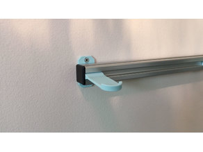 2020 T-Slotted Aluminum Extrusion Wall Mount