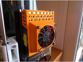 Power supply fan mount