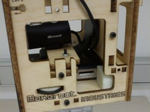 Optoma PK201 with Makerbot Cyclops 3D Scanner Chassis