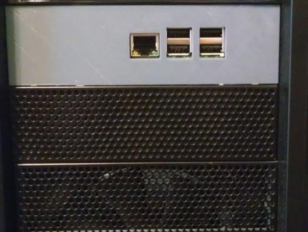 raspberry pi 3 drive bay mount  case by brandonforty2