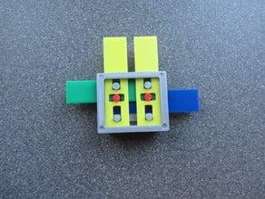 Zuse inspired Z1-Z2 logic gate demonstration set