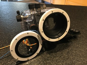 Macro lens with a magnetic fixation